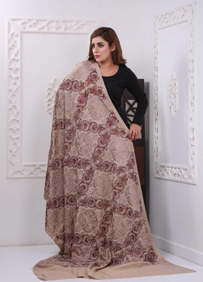 Sanaulla Exclusive Range Embroidered Pashmina  Shawl PMSH 323305 - Pashmina Shawls