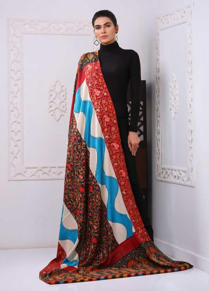 Sanaulla Exclusive Range Embroidered Pashmina  Shawl PMSH 323963 - Pashmina Shawls