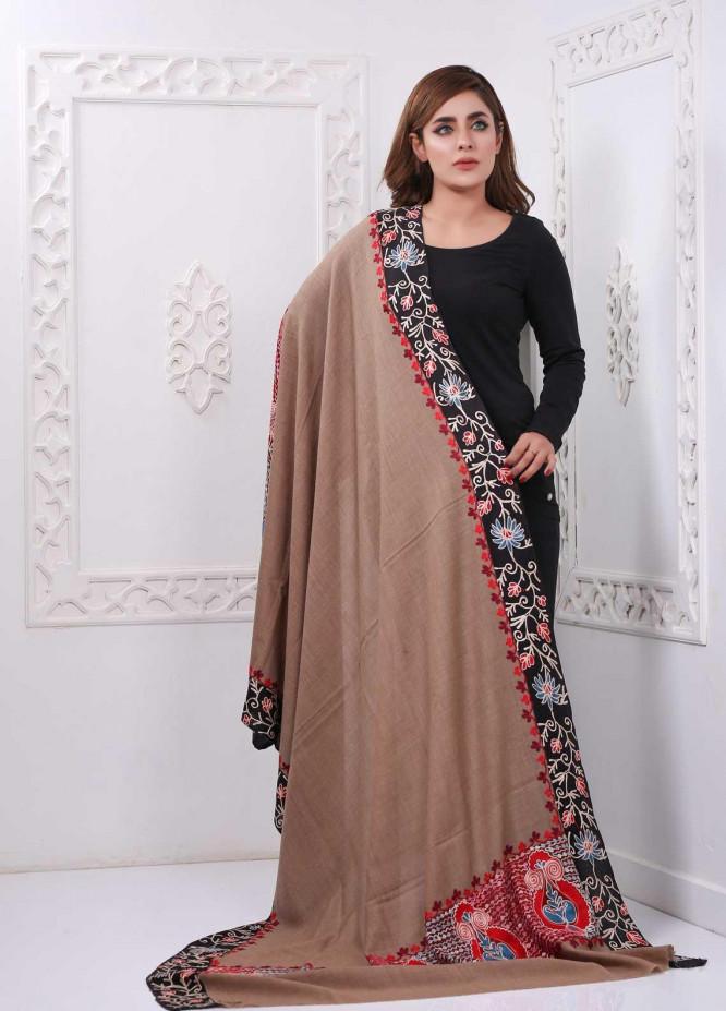 Sanaulla Exclusive Range Embroidered Pashmina  Shawl PMSH 323984 - Pashmina Shawls