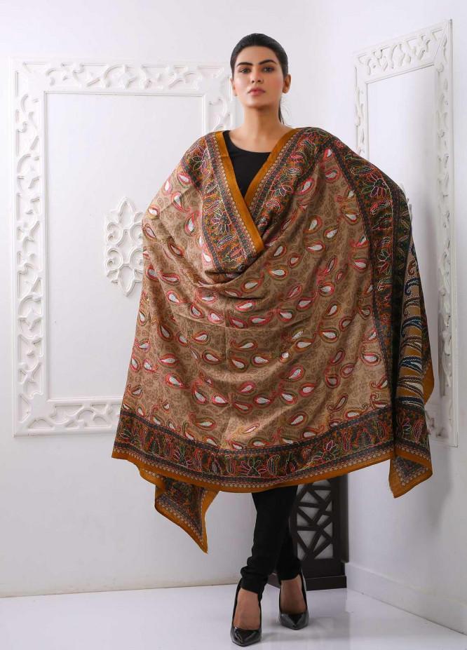 Sanaulla Exclusive Range Embroidered Pashmina  Shawl PMSH 323991 - Pashmina Shawls