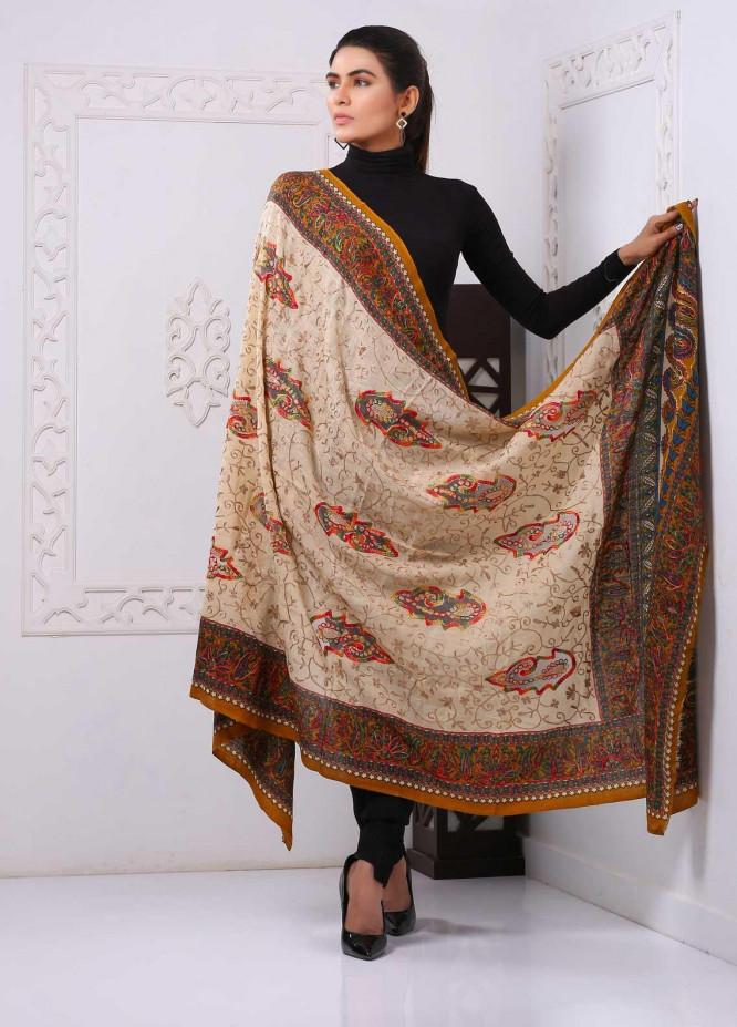 Sanaulla Exclusive Range Embroidered Pashmina  Shawl PMSHC Cut Work324022 - Pashmina Cut Work Shawls