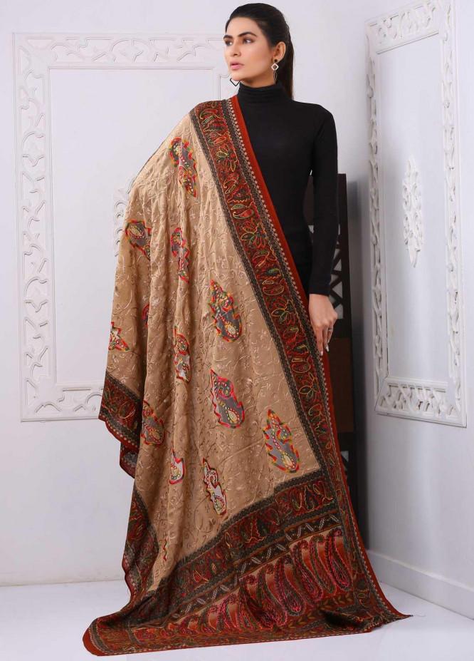 Sanaulla Exclusive Range Embroidered Pashmina  Shawl PMSHC Cut Work324023 - Pashmina Cut Work Shawls