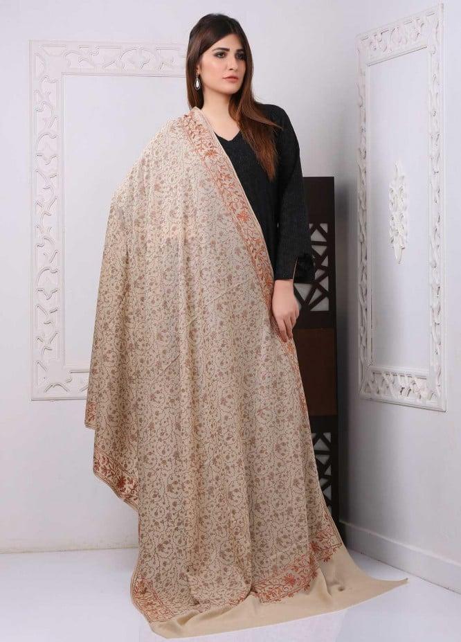 Sanaulla Exclusive Range Embroidered Premium Pashmina  Shawl PRMSH 323931 - Premium Pashmina Shawls