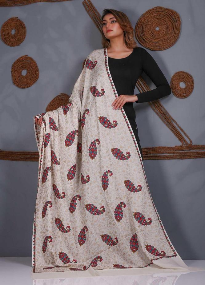 Sanaulla Exclusive Range Embroidered Pashmina  Shawl SU20P 323862 - Pashmina Shawls