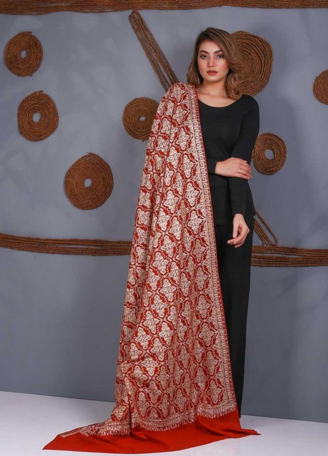 Sanaulla Exclusive Range Embroidered Pashmina  Shawl SU21P Resham Aari 323997 - Pashmina Shawls