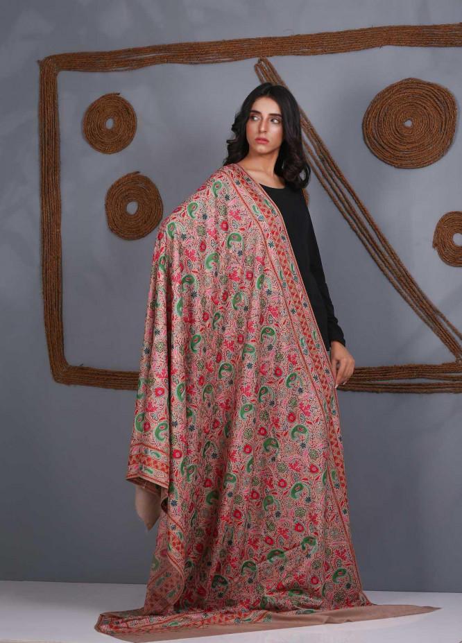 Sanaulla Exclusive Range Embroidered Pashmina  Shawl SU21PS 324056 - Pashmina Shawls