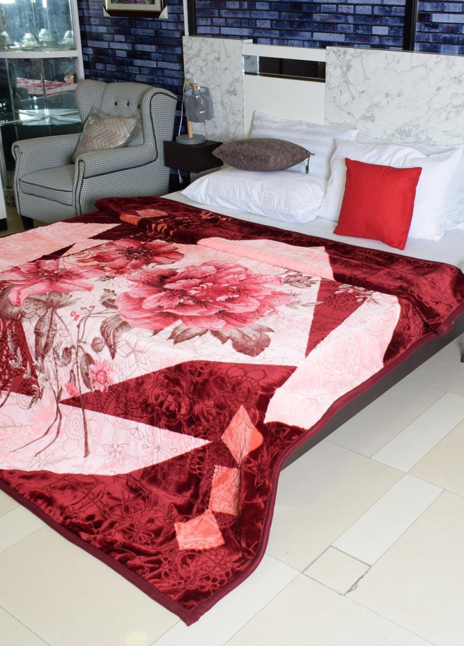 Plush Mink Double Bed Supreme Soft Finish Blankets 2 Ply Purist Korea Double-PK214 - Home & Decor