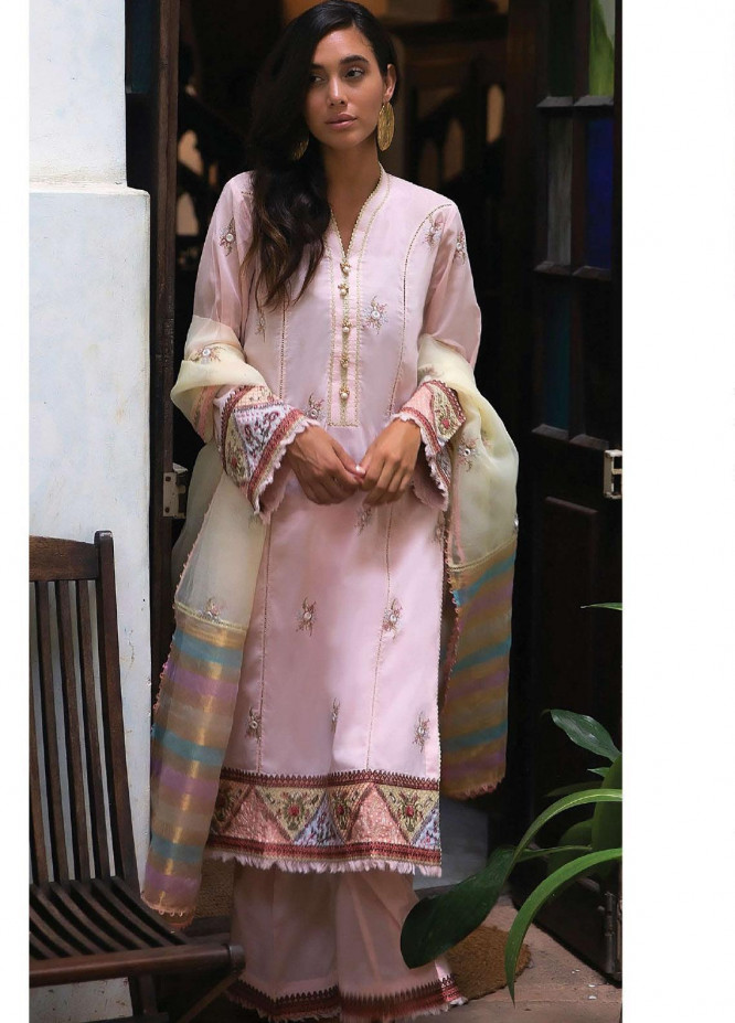 Qalamkar Embroidered Lawn Unstitched 3 Piece Suit QLM20L 04 - Luxury Collection