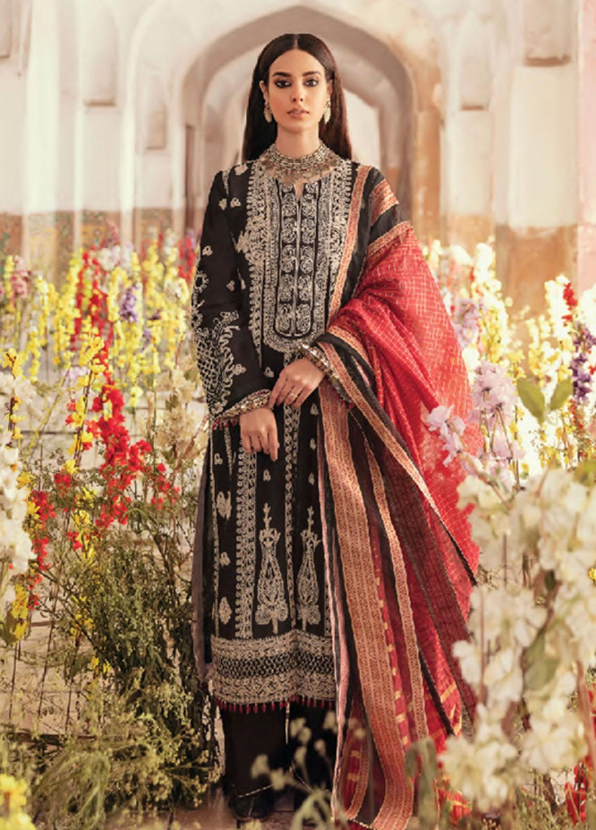 Dilara By Qalamkar Embroidered Lawn Suits Unstitched 3 Piece QLM21L 01 - Luxury Collection