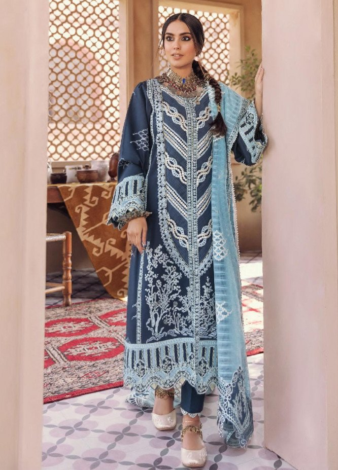 Dilara By Qalamkar Embroidered Lawn Suits Unstitched 3 Piece QLM21L 06 - Luxury Collection