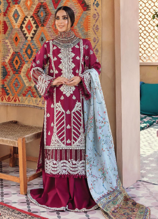 Dilara By Qalamkar Embroidered Lawn Suits Unstitched 3 Piece QLM21L 10 - Luxury Collection