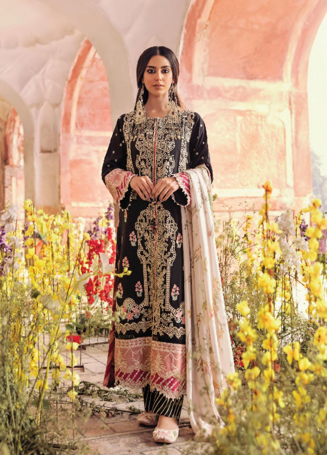 Dilara By Qalamkar Embroidered Lawn Suits Unstitched 3 Piece QLM21L 11 - Luxury Collection