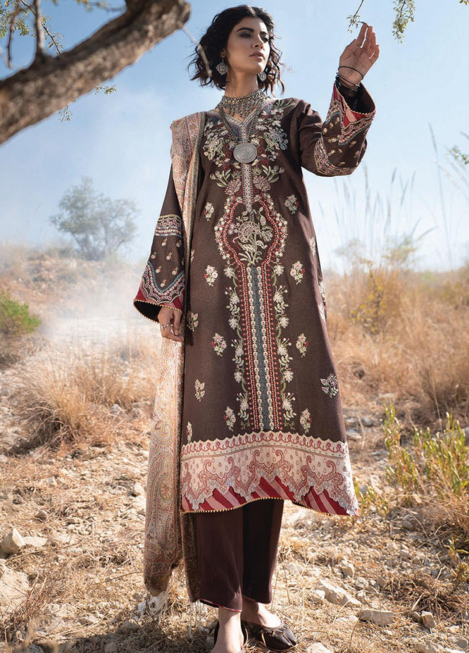 Qalamkar Embroidered Karandi Unstitched 3 Piece Suit QLM20SH 04 - Luxury Collection