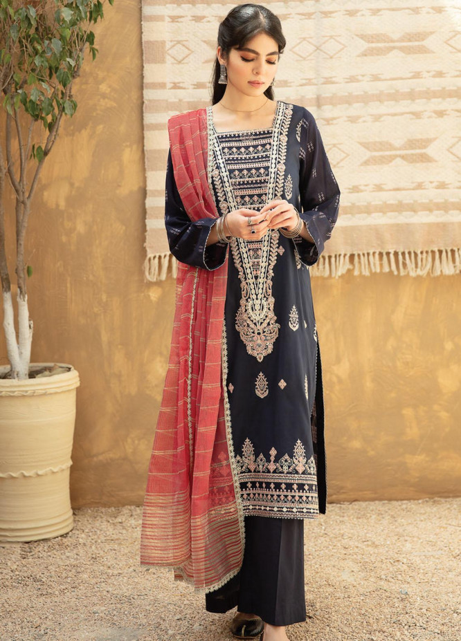 Qline By Qalamkar Embroidered Lawn Suits Unstitched 3 Piece QLM21Q 03 Amna - Summer Collection