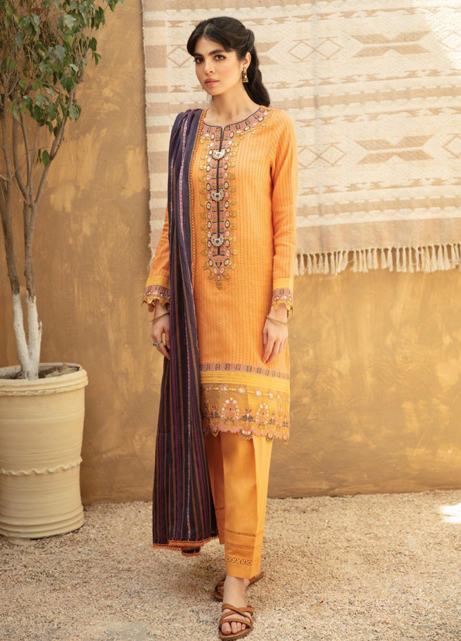 Qline By Qalamkar Embroidered Lawn Suits Unstitched 3 Piece QLM21Q 15 Zainey - Summer Collection