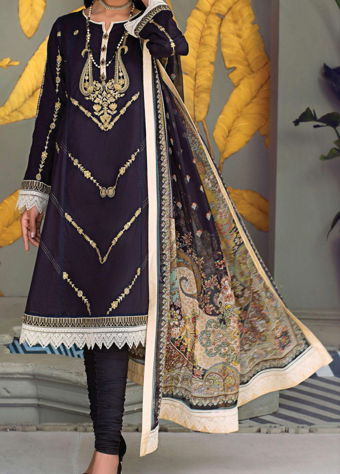 Sehr by Raaya Embroidered Lawn Suits Unstitched 3 Piece RY21S 01 Tribal Tribe - Eid Collection