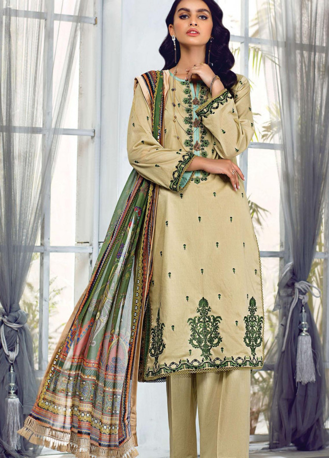 Sehr by Raaya Embroidered Lawn Suits Unstitched 3 Piece RY21S 02 Mughal Empire - Eid Collection