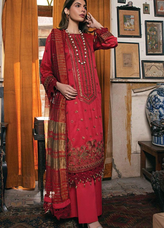 Raaya by Rang Rasiya Embroidered Lawn Suits Unstitched 3 Piece RY21L 02 - Premium Collection