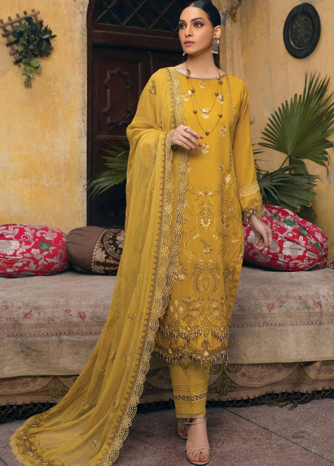 Raaya by Rang Rasiya Embroidered Lawn Suits Unstitched 3 Piece RY21L 12 - Premium Collection