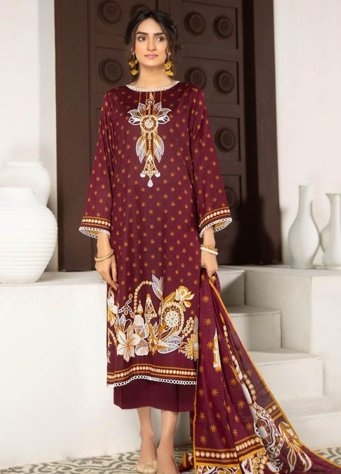 Ittehad Textiles Printed Lawn Suits Unstitched 3 Piece IT21R LF-RHT-21701B - Summer Collection
