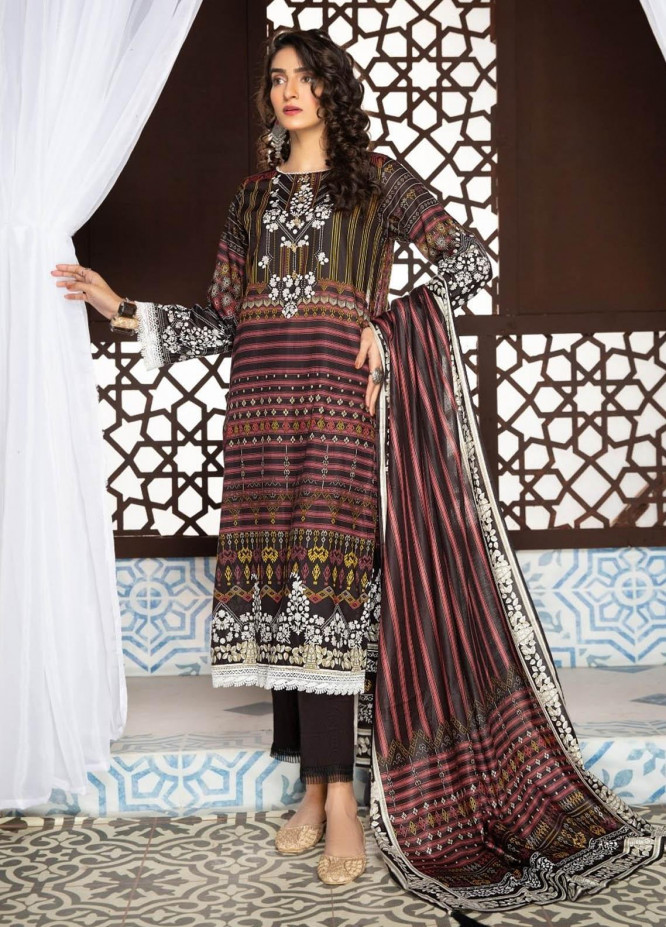Ittehad Textiles Printed Lawn Suits Unstitched 3 Piece IT21R LF-RHT-21702B - Summer Collection
