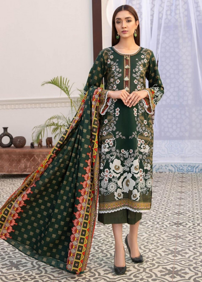 Ittehad Textiles Printed Lawn Suits Unstitched 3 Piece IT21R LF-RHT-21705B - Summer Collection