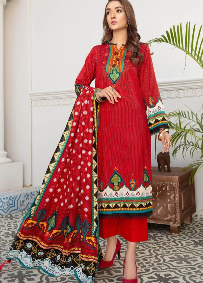 Ittehad Textiles Printed Lawn Suits Unstitched 3 Piece IT21R LF-RHT-21706A - Summer Collection