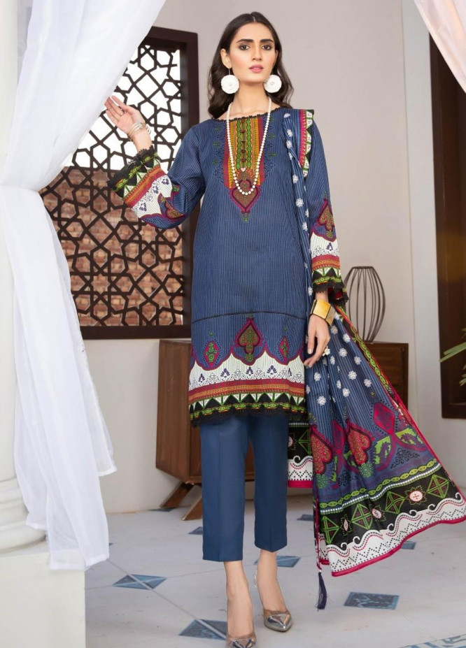 Ittehad Textiles Printed Lawn Suits Unstitched 3 Piece IT21R LF-RHT-21706B - Summer Collection