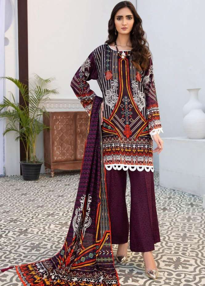 Ittehad Textiles Printed Lawn Suits Unstitched 3 Piece IT21R LF-RHT-21707A - Summer Collection