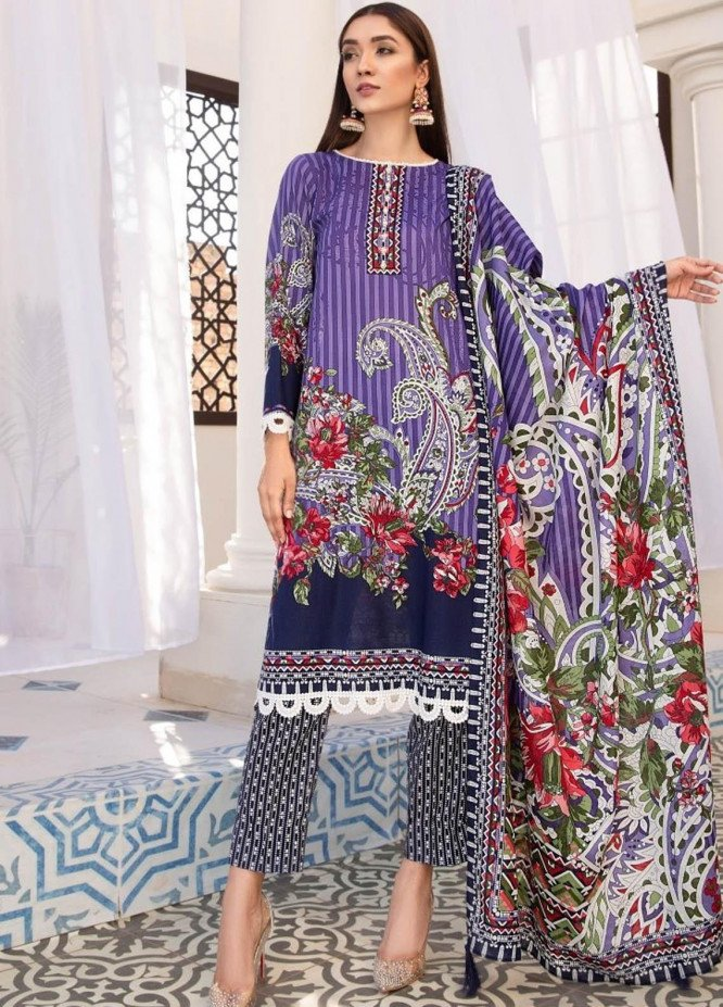 Ittehad Textiles Printed Lawn Suits Unstitched 3 Piece IT21R LF-RHT-21709A - Summer Collection