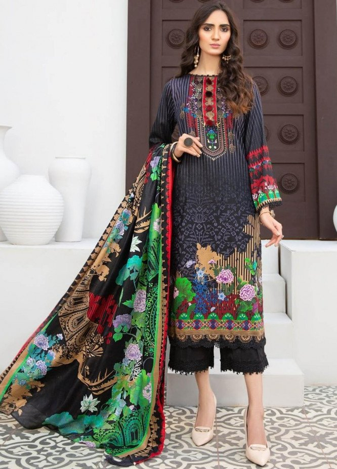 Ittehad Textiles Printed Lawn Suits Unstitched 3 Piece IT21R LF-RHT-21710B - Summer Collection