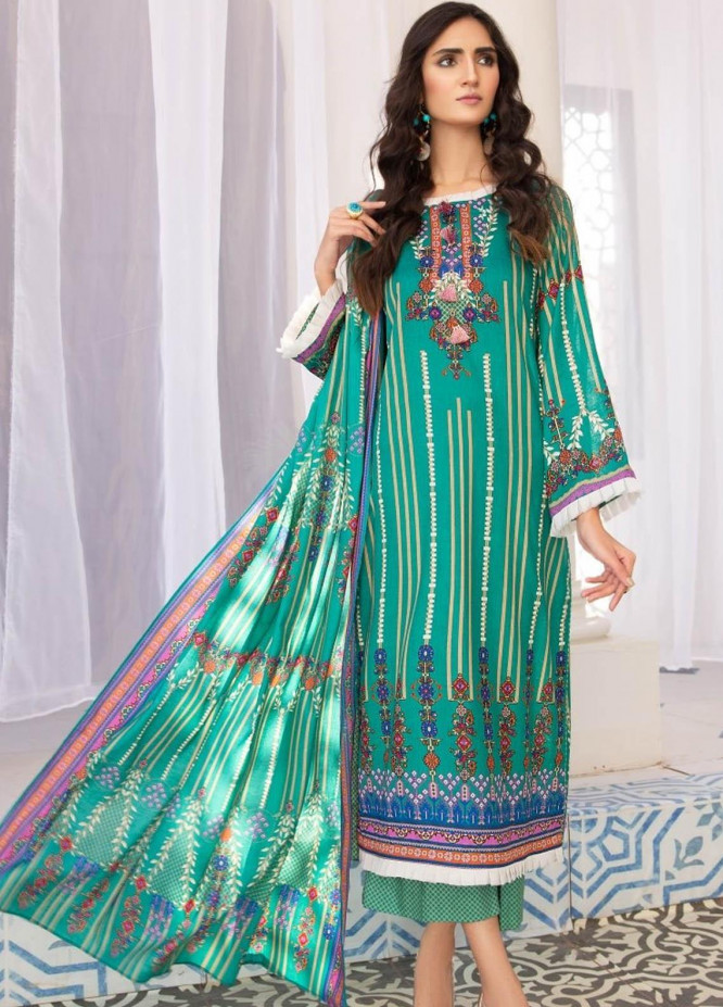 Ittehad Textiles Printed Lawn Suits Unstitched 3 Piece IT21R LF-RHT-21711B - Summer Collection