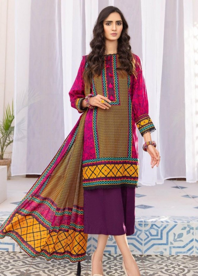 Ittehad Textiles Printed Lawn Suits Unstitched 3 Piece IT21R LF-RHT-21712A - Summer Collection