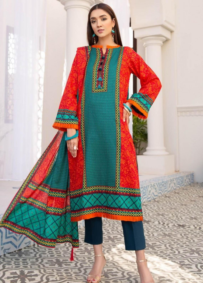 Ittehad Textiles Printed Lawn Suits Unstitched 3 Piece IT21R LF-RHT-21712B - Summer Collection