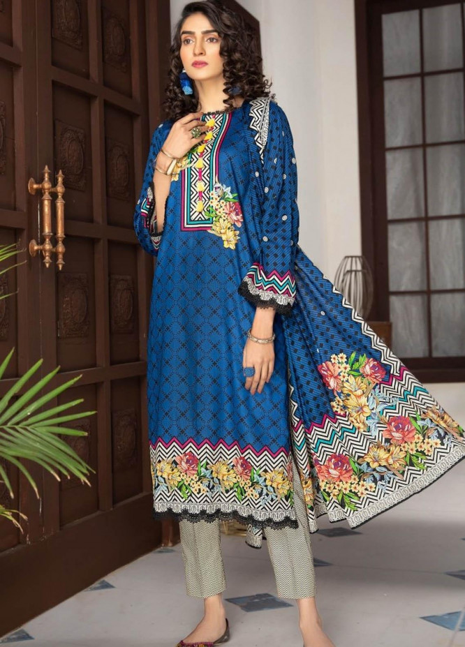 Ittehad Textiles Printed Lawn Suits Unstitched 3 Piece IT21R LF-RHT-21713A - Summer Collection