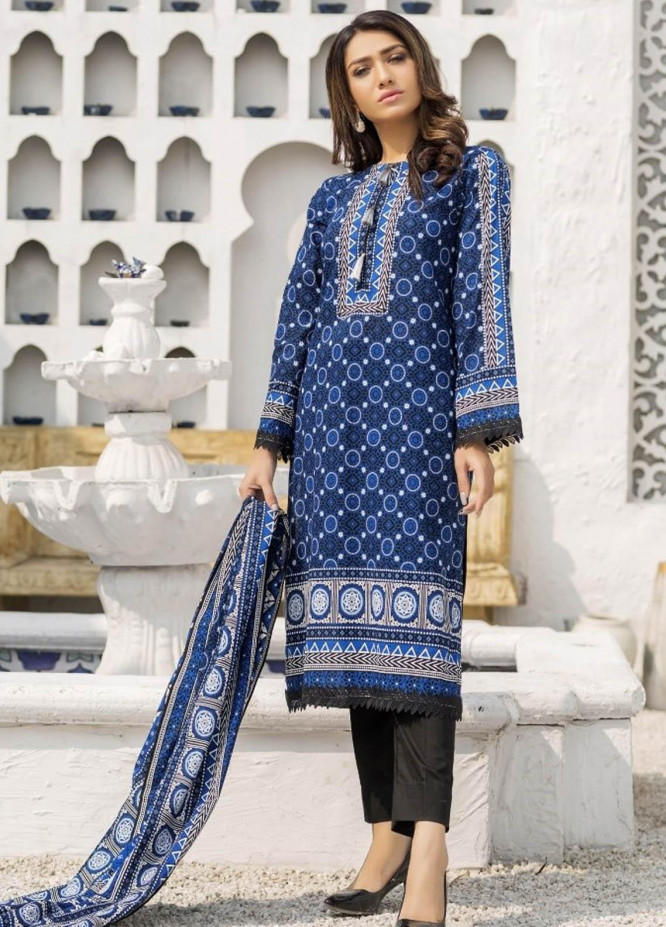 Ittehad Textiles Printed Lawn Suits Unstitched 3 Piece IT21R LF-RHT-21723A - Summer Collection
