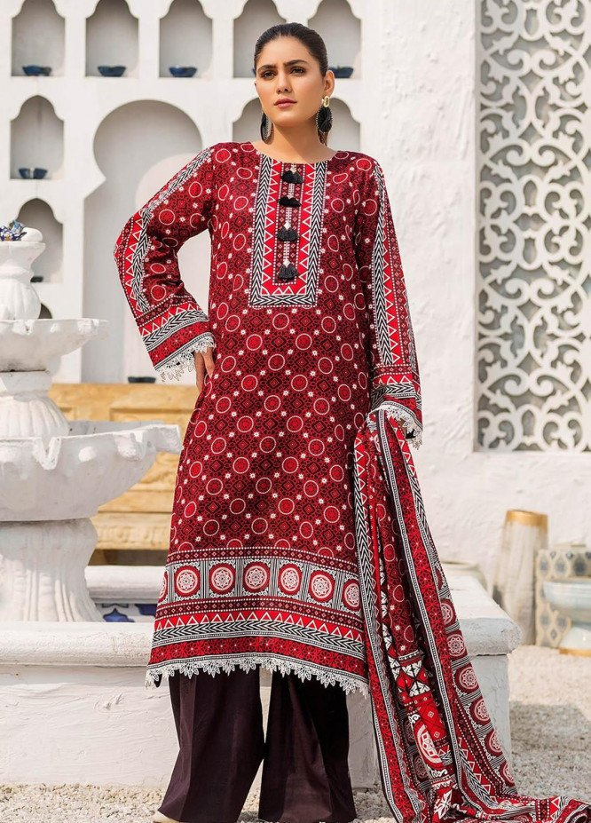 Ittehad Textiles Printed Lawn Suits Unstitched 3 Piece IT21R LF-RHT-21723B - Summer Collection