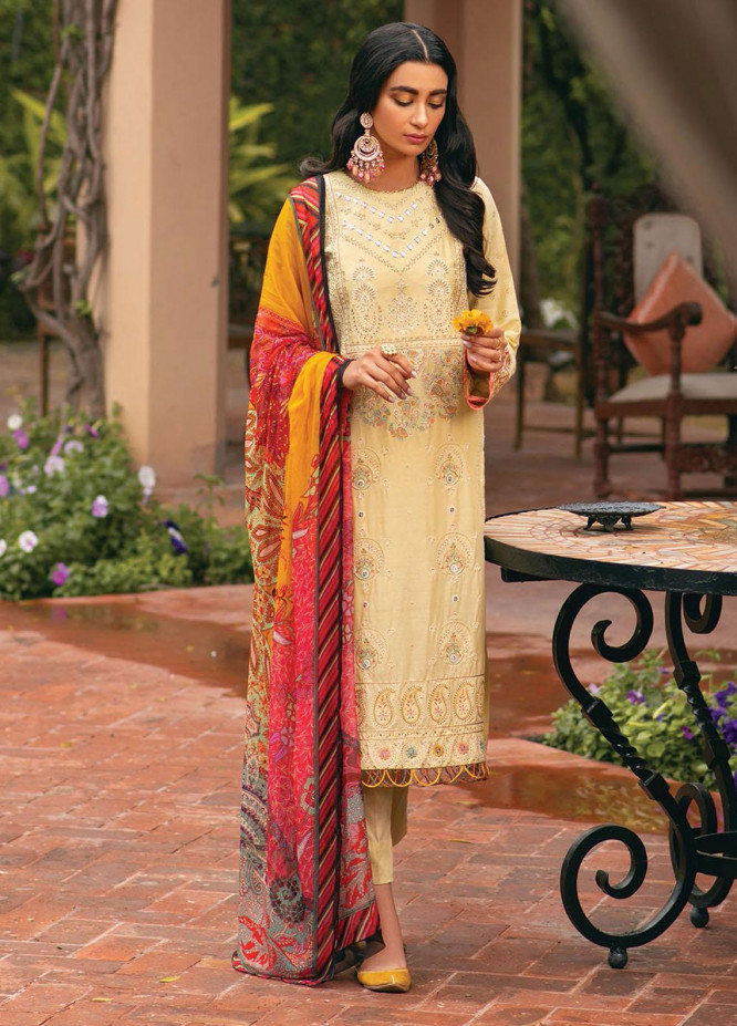 RajBari Embroidered Chikankari Suits Unstitched 3 Piece RB21F 3A - Festive Collection