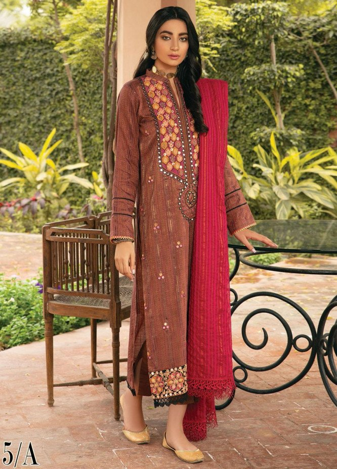 RajBari Embroidered Khaadi Suits Unstitched 3 Piece RB21F 5A - Festive Collection