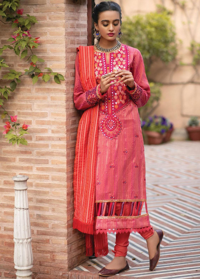 RajBari Embroidered Khaadi Suits Unstitched 3 Piece RB21F 5B - Festive Collection