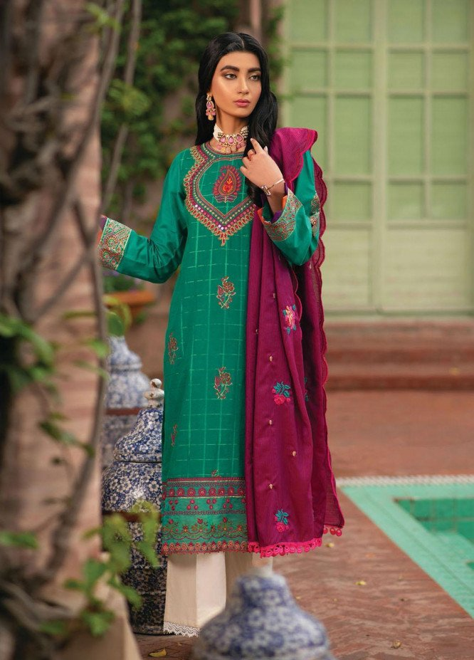 RajBari Embroidered Jacquard Suits Unstitched 3 Piece RB21F 7A - Festive Collection