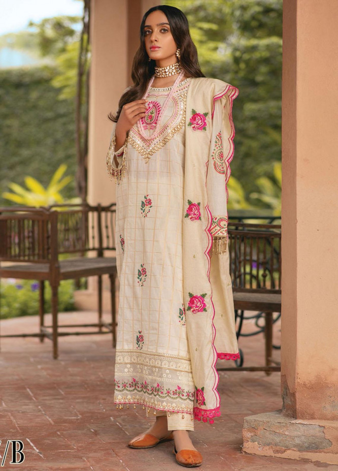 RajBari Embroidered Jacquard Suits Unstitched 3 Piece RB21F 7B - Festive Collection