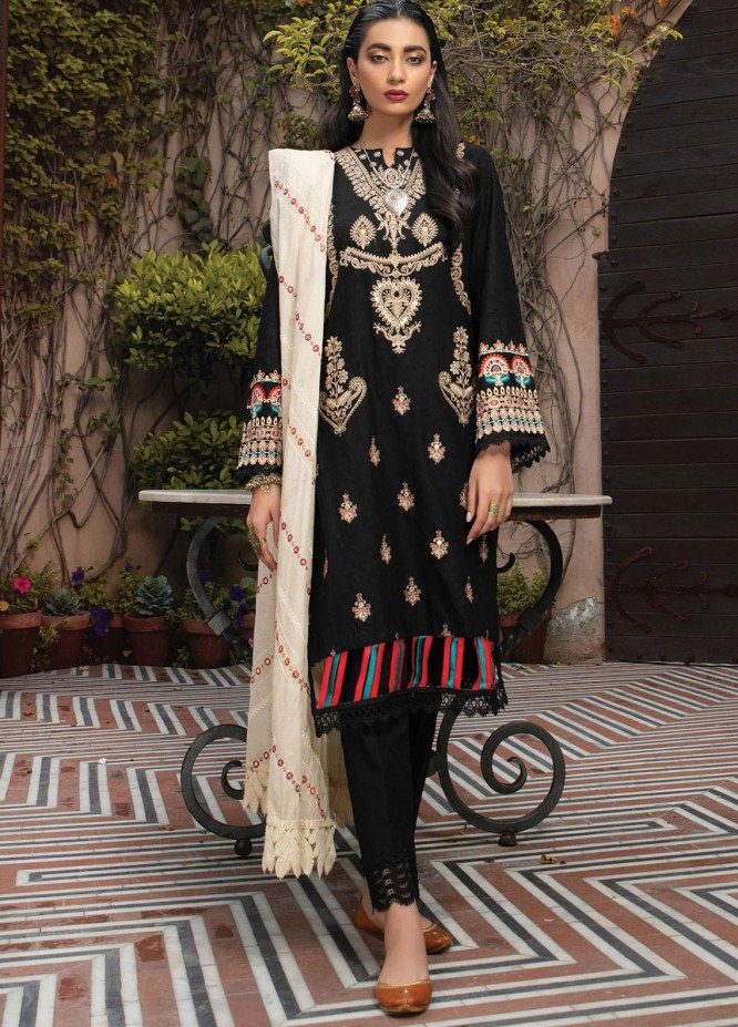 RajBari Embroidered Jacquard Suits Unstitched 3 Piece RB21F 8B - Festive Collection