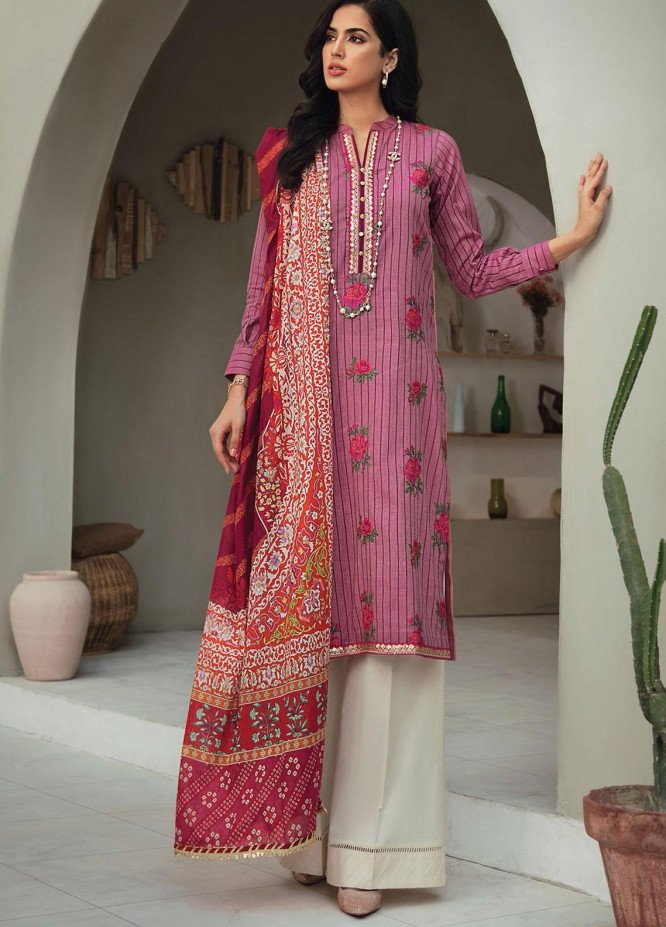 RajBari Embroidered Lawn Suits Unstitched 3 Piece RB21SS 6B - Spring / Summer Collection