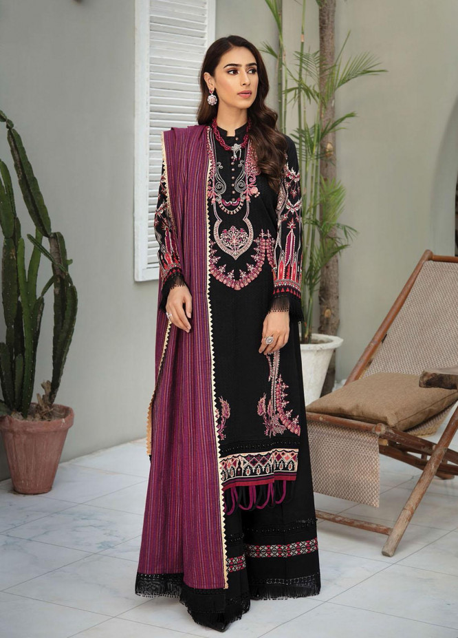 RajBari Embroidered Lawn Suits Unstitched 3 Piece RB21SS 7A - Spring / Summer Collection