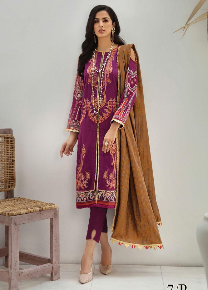 RajBari Embroidered Lawn Suits Unstitched 3 Piece RB21SS 7B - Spring / Summer Collection