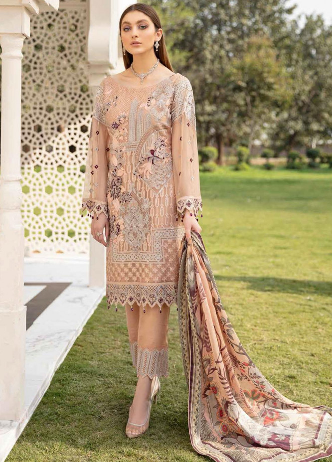 Ramsha Embroidered Chiffon Suits Unstitched 3 Piece RSH21-C20 2004 - Luxury Collection