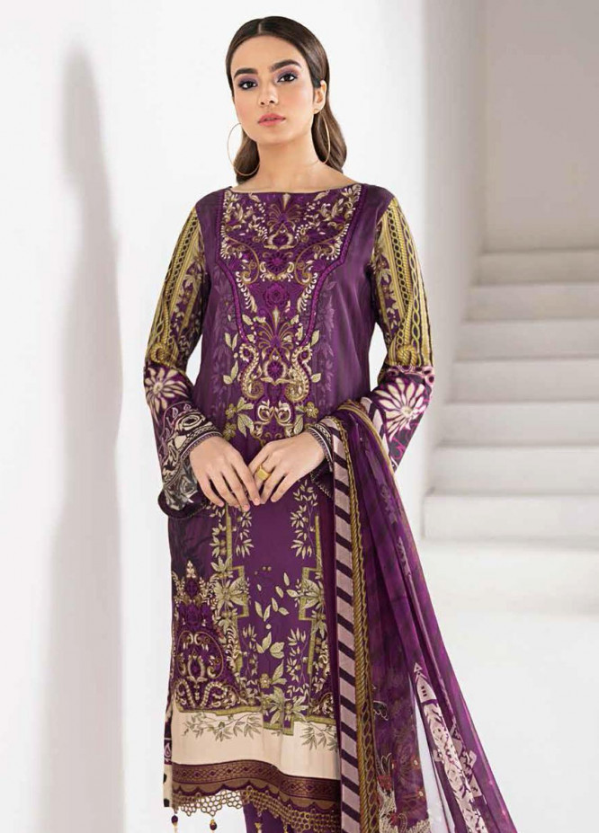 Reet By Ramsha Embroidered Viscose Suits Unstitched 3 Piece RSH21-R2 202 - Winter Collection