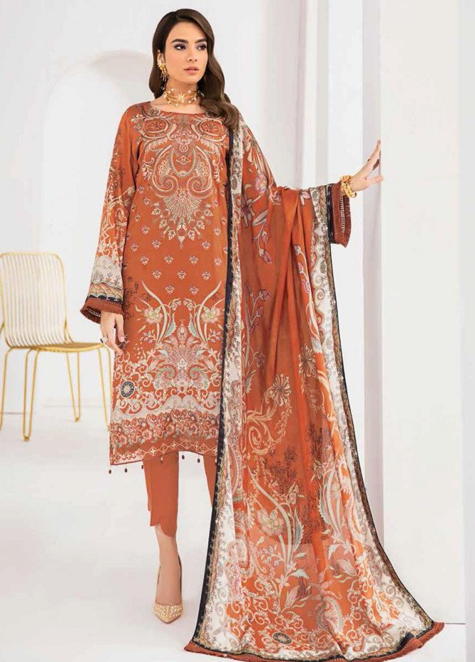 Reet By Ramsha Embroidered Viscose Suits Unstitched 3 Piece RSH21-R2 204 - Winter Collection