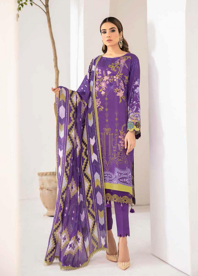Reet By Ramsha Embroidered Viscose Suits Unstitched 3 Piece RSH21-R2 205 - Winter Collection